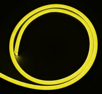 Yellow, LED Neonflex, 12 V, 1 cm cutting, per meter